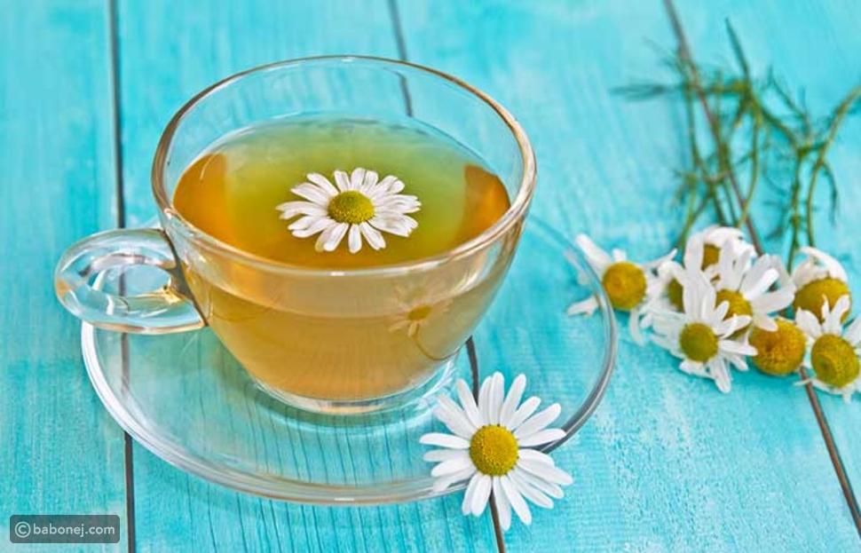 شاي البابونج لعلاج التهاب اللوزتين