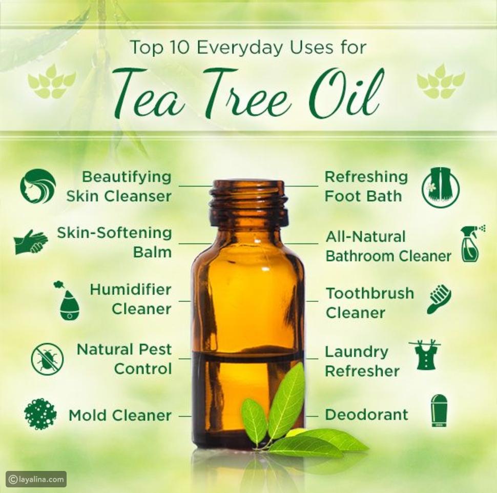 استخدامات زيت شجرة لشاي