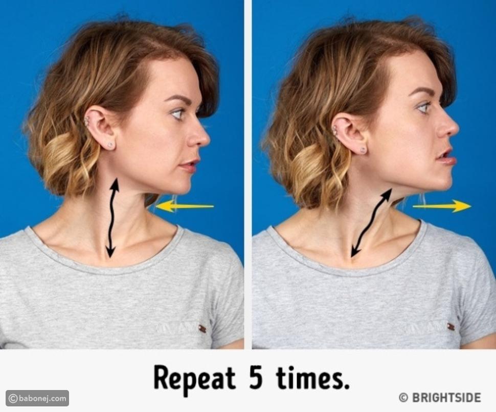 تمرين Under-Bite Stretch