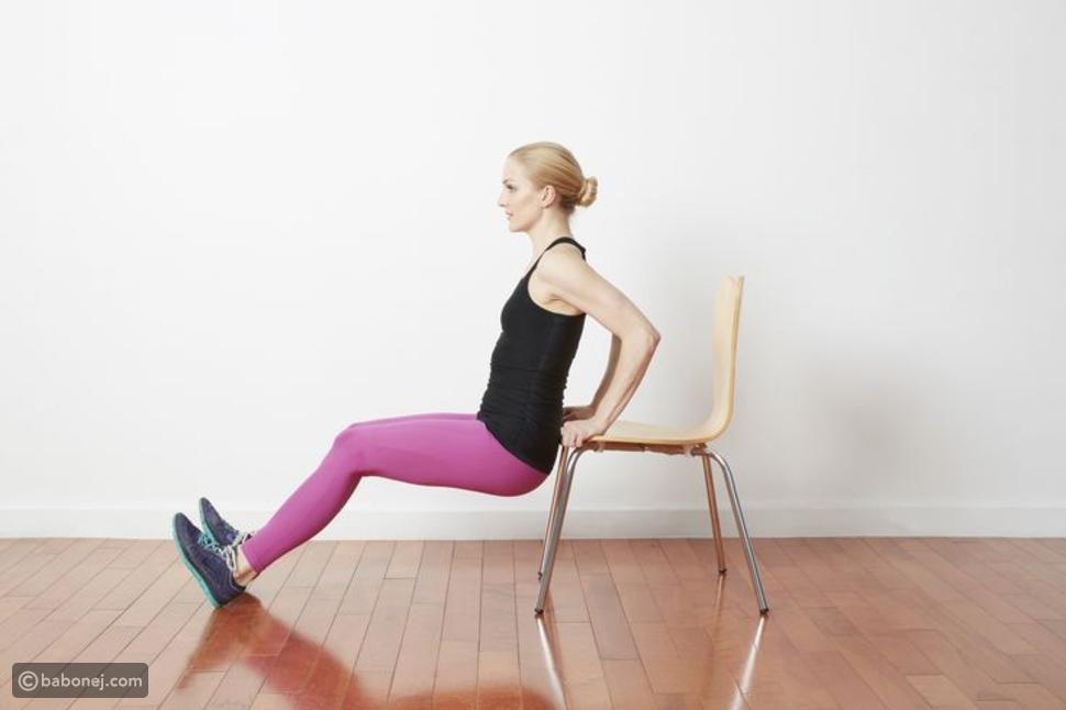 تمرين عضلات الذراع الأمامية أو تمرين تريك ديبس