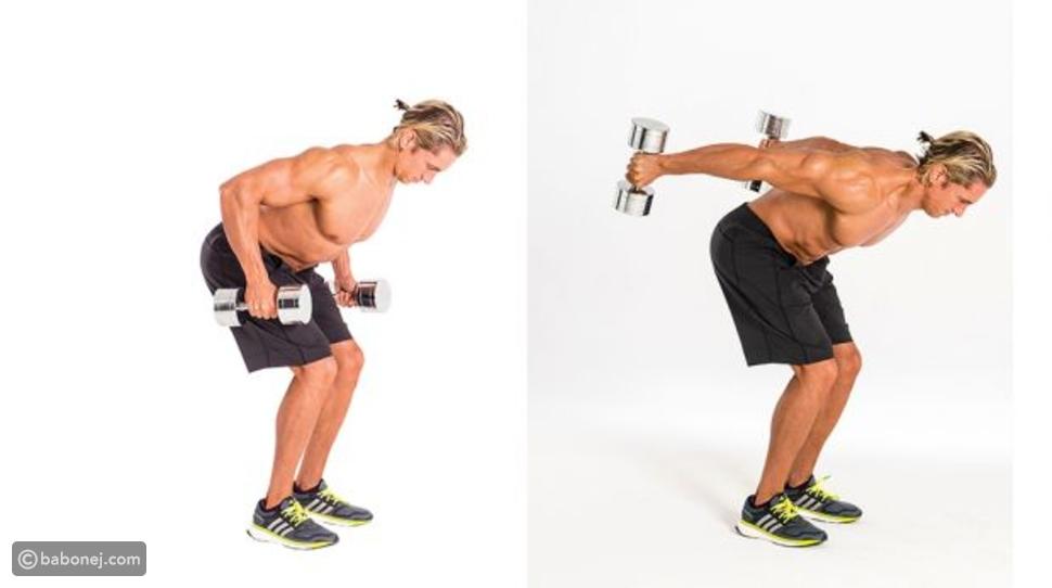تمرين Bent-Over Dumbbell Triceps Kickback