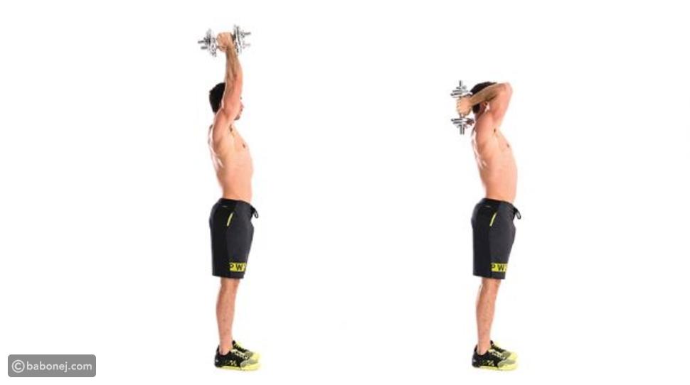 تمرين Dumbbell Overhead Triceps Extension