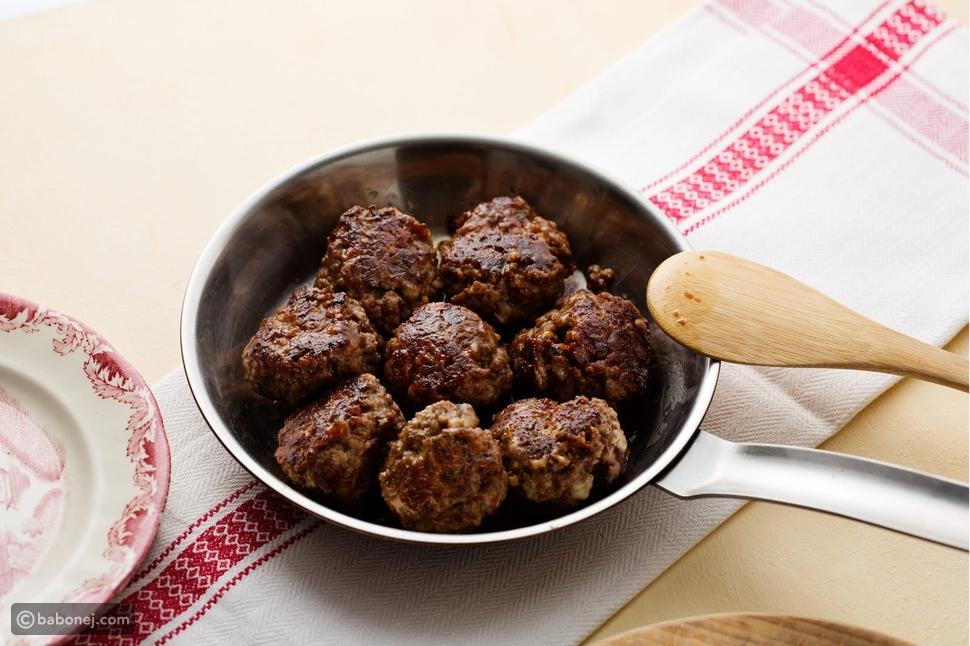 كرات اللحم - وجبات كيتو