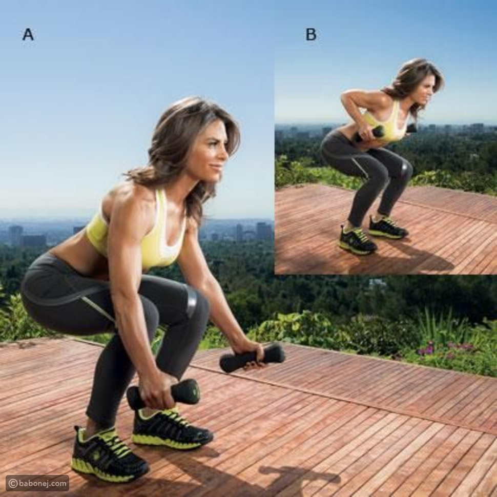 تمرين القرفصاء (static squat row)وخطواته
