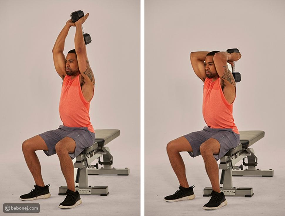 تمديد العضلة ثلاثية الرؤوس فوق الرأس