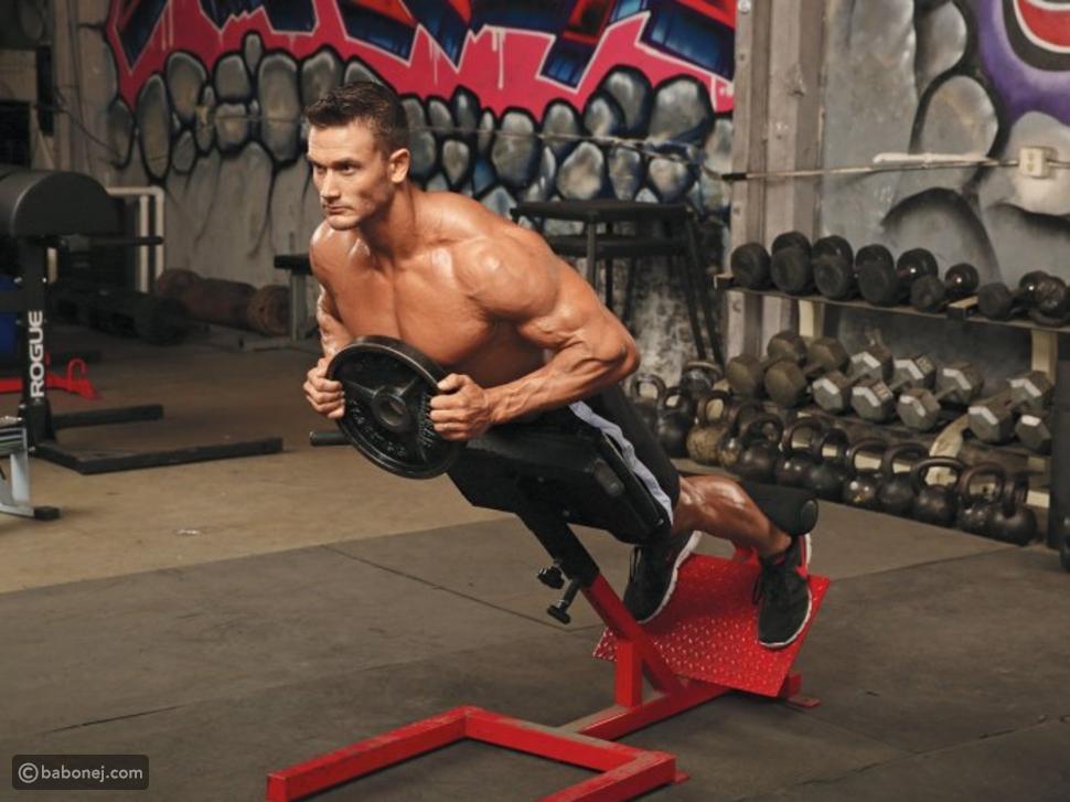 عضلات أسفل الظهر(تمرين الصلب)