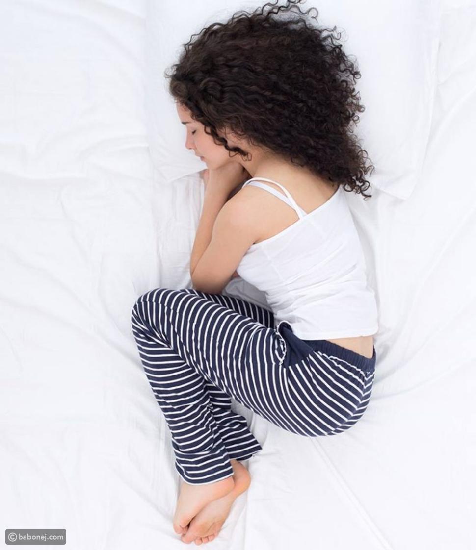النوم بوضعية الجنين (The Fetus)