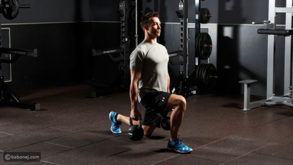 Weighted walking lunge