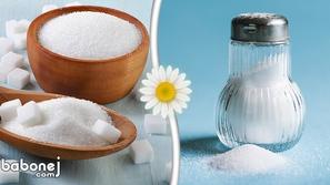 فوائد ومخاطر الملح والسكر